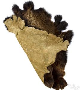 American bison hide rug