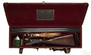 Henry Atkin double barrel side by side shotgun