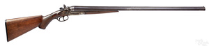 W. Richards double barrel percussion shotgun