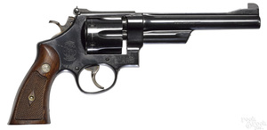 Smith and Wesson double action six shot revolver