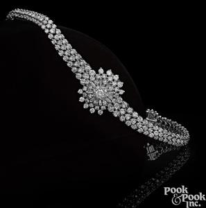 Omega platinum diamond wristwatch