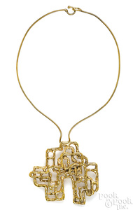 Bronze and gold plated Ibram Lassaw Necklace