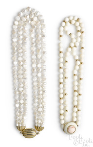 Two beaded necklaces