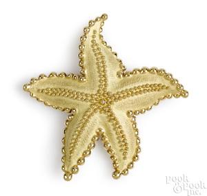 18K yellow gold Tiffany & Co. starfish brooch