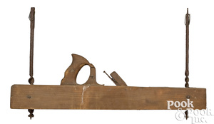 Wood carpenter's block plane trade sign