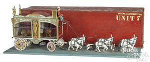 Folk art horse drawn circus cage wagon
