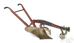 Salesman sample horse drawn walking plow