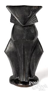 Hubley cast iron modernistic cat doorstop