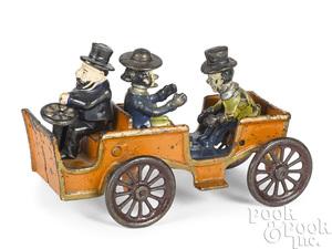 Kenton cast iron Alphonse and Gaston automobile