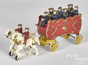 Kenton horse drawn Overland Circus band wagon
