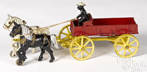 Kenton cast iron horse drawn plantation wagon