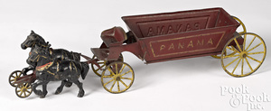 Wilkins tin horse drawn Panama dump wagon