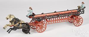 Carpenter cast iron horse drawn ladder wagon