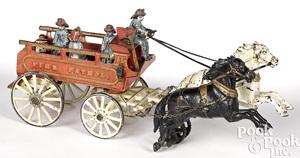 Carpenter cast iron Fire Patrol wagon