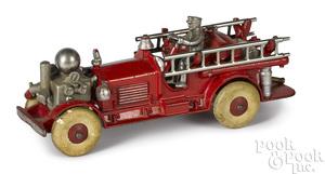 Hubley cast iron Ahren-Fox fire pumper