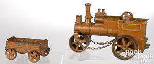 H. Wallworks cast iron road roller and trailer