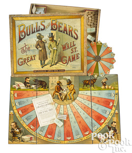 McLoughlin Bros. Bulls and Bears Great Wall Street board game