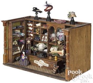 German dressmaker and milliners shop room box