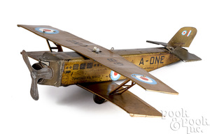 Crawford's Air Service GB A -1 clockwork bi-plane