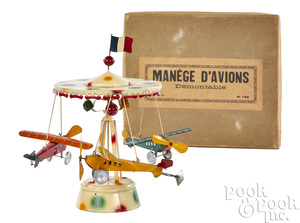 Jouets Magnin Lyon wind-up airplane