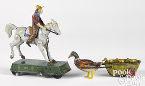 Two Lehmann tin lithograph clockwork toys