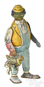 Marx Chicken Snatcher lithographed tin wind-up