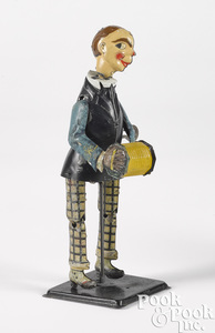 German tin lithograph wind-up dancer