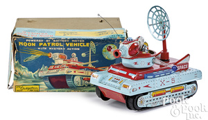 Cragston lithograph tin Moon Patrol vehicle