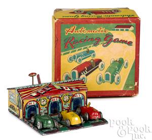 Haji lithograph tin Automatic Racing Game