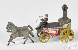 Charles Rossignol tin horse drawn fire pumper