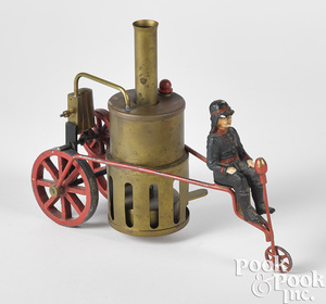 Schoenner brass live steam fire pumper tricycle