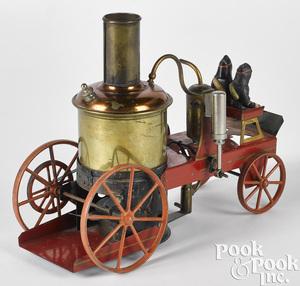 Schoenner live steam brass fire pumper
