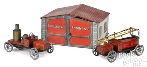Bing tin lithograph fire station
