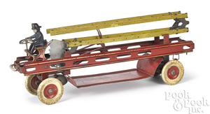 Kingsbury clockwork fire ladder truck