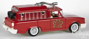 Buddy L pressed steel fire wagon no. 3