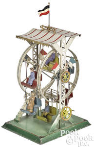 Falk painted tin Ferris wheel steam toy #218/3