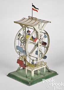 Falk painted tin Ferris wheel steam toy #218/3