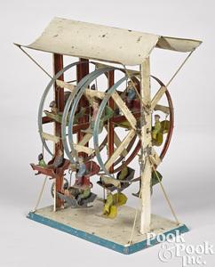 Double Ferris wheel steam toy accessory