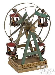 German tin Ferris wheel steam toy accessory