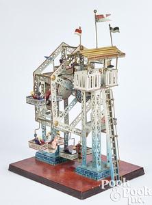 Doll & Cie tin Ferris wheel steam toy #729/5