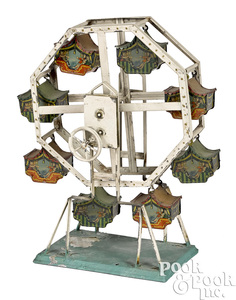 Bing painted tin Ferris wheel steam toy accessory