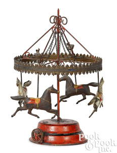 Schoenner painted tin horse carousel #11/2