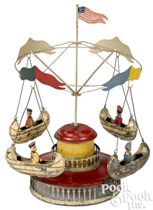 Muller & Kadeder boat carousel steam toy accessory