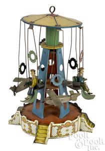 Wilhelm Krauss airplane carousel steam toy