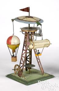 Painted tin aeronautical steam toy accessory
