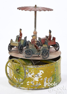 Painted automobile carousel steam toy accessory