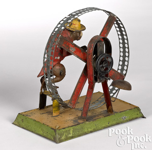 Bing monkey turning wheel steam toy accessory