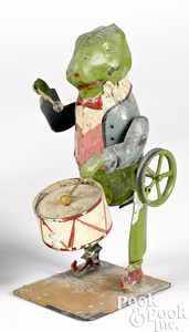 Drumming frog steam toy accessory