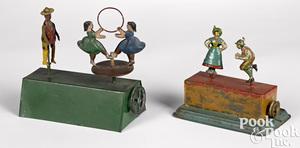 Two dancer steam toy accessories