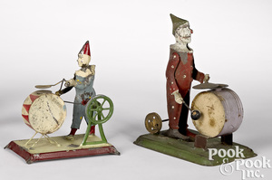 Clowns with drums steam toy accessories